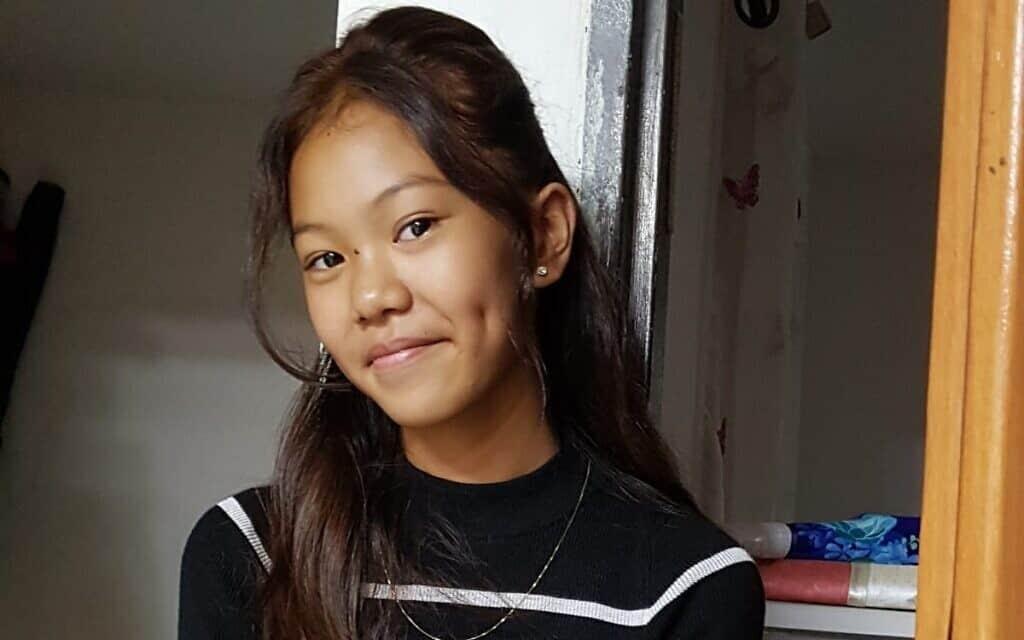גנה אנטיגו, 12, תלמידת כיתה ז' בבית הספר גימנסיה הרצליה (צילום: באדיבות uci)