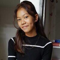 הילדה הפיליפינית גנה מהגימנסיה הרצליה (צילום: באדיבות uci)