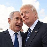 """רה""""מ נתניהו והנשיא טראמפ בביקורו בישראל (צילום: קובי גדעון, לע""""מ)"""