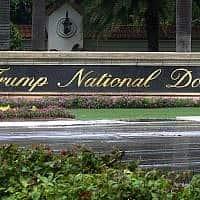 מגרש הגולף שבבעלות דונלד טראמפ במיאמי שבפלורידה (צילום: Alex Sanz, AP)