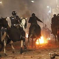 הפגנה באקוודור (צילום: Dolores Ochoa, AP)