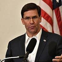 מזכיר ההגנה של ארצות הברית, מארק אספר (צילום: Timothy D. Easley, AP)