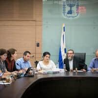 ועדת הכספים של הכנסת. הרשויות לא מקבלות תקציבים ממשלתיים (צילום: יונתן זינדל, פלאש 90)