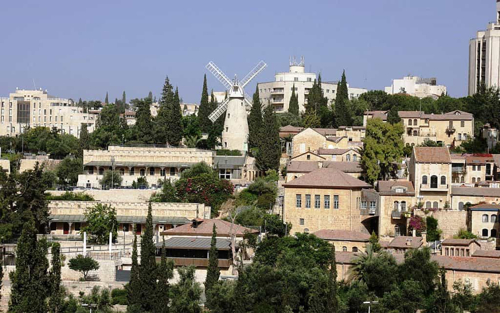 השכונות הירושלמיות משכנות שאננים וימין משה (צילום: שמואל בר-עם)