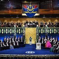 טקס הענקת פרס נובל, ארכיון (צילום: Pontus Lundahl, AP)