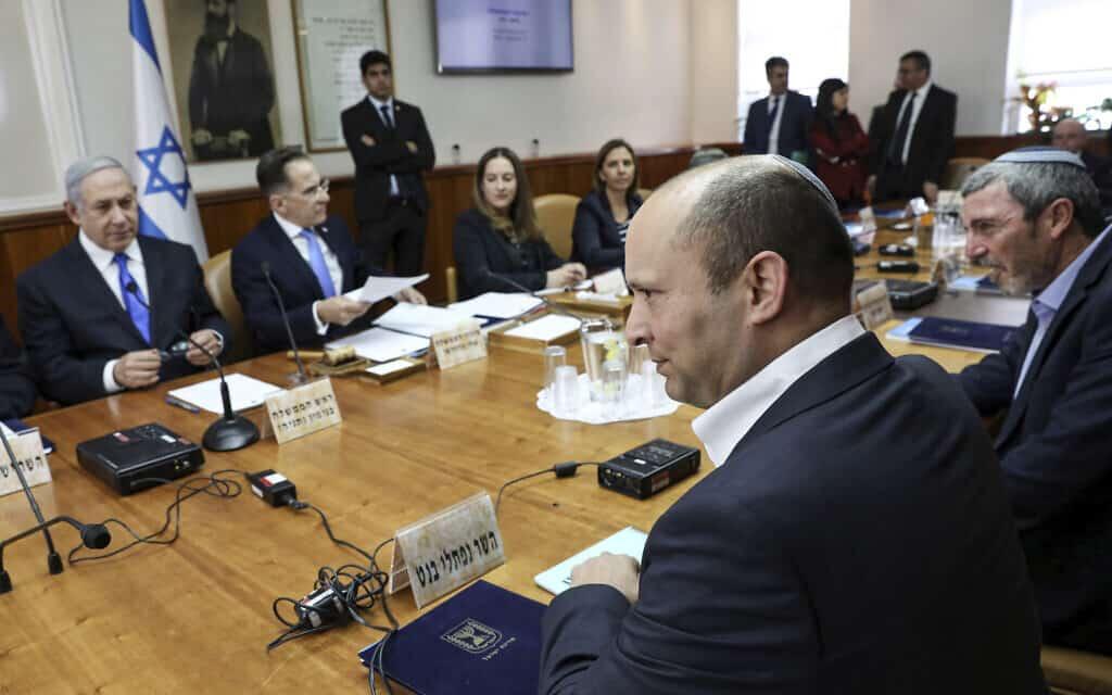 ישיבת הממשלה הבוקר (צילום: Gali Tibbon/Pool via AP)