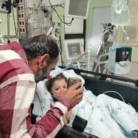 רהף מתאוששת מהניתוח בבית חולים שיבא תל השומר (צילום: שבת אחים)