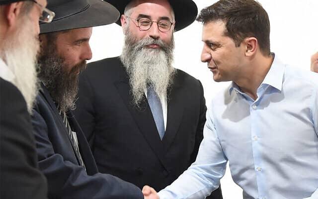 2. נשיא אוקראינה, וולודימיר זלנסקי, נפגש עם רבנים בקייב, 6 במאי 2019 (צילום: באדיבות הקהילה היהודית בחרקוב)