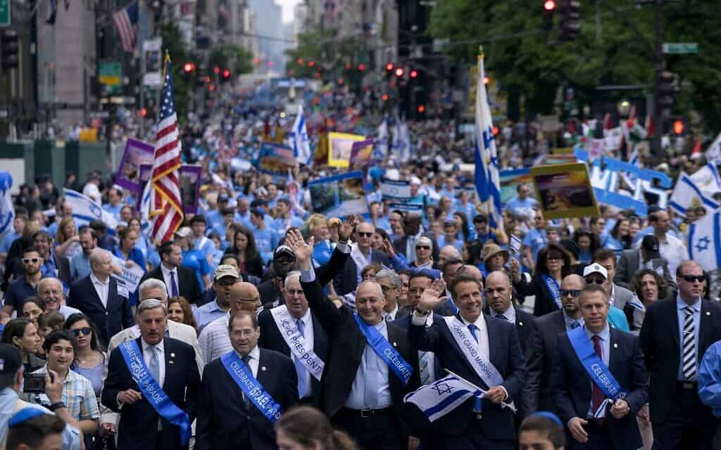 מצעד תמיכה בישראל, ניו יורק, 2017 (צילום: Craig Ruttle / AP Photo)