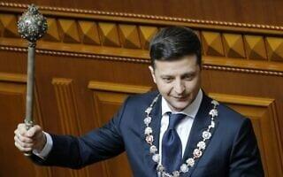 וולודימיר זלנסקי (צילום: AP Photo/Efrem Lukatsky)