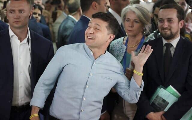 וולודימיר זלנסקי (צילום: AP Photo/Evgeniy Maloletka)