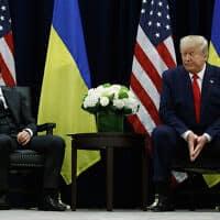 וולודימיר זלנסקי ודונלד טראמפ (צילום: AP Photo/Evan Vucci)
