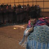 מחאות הבחירות בבוליביה (צילום: -AP-Photo-Juan-Karita)