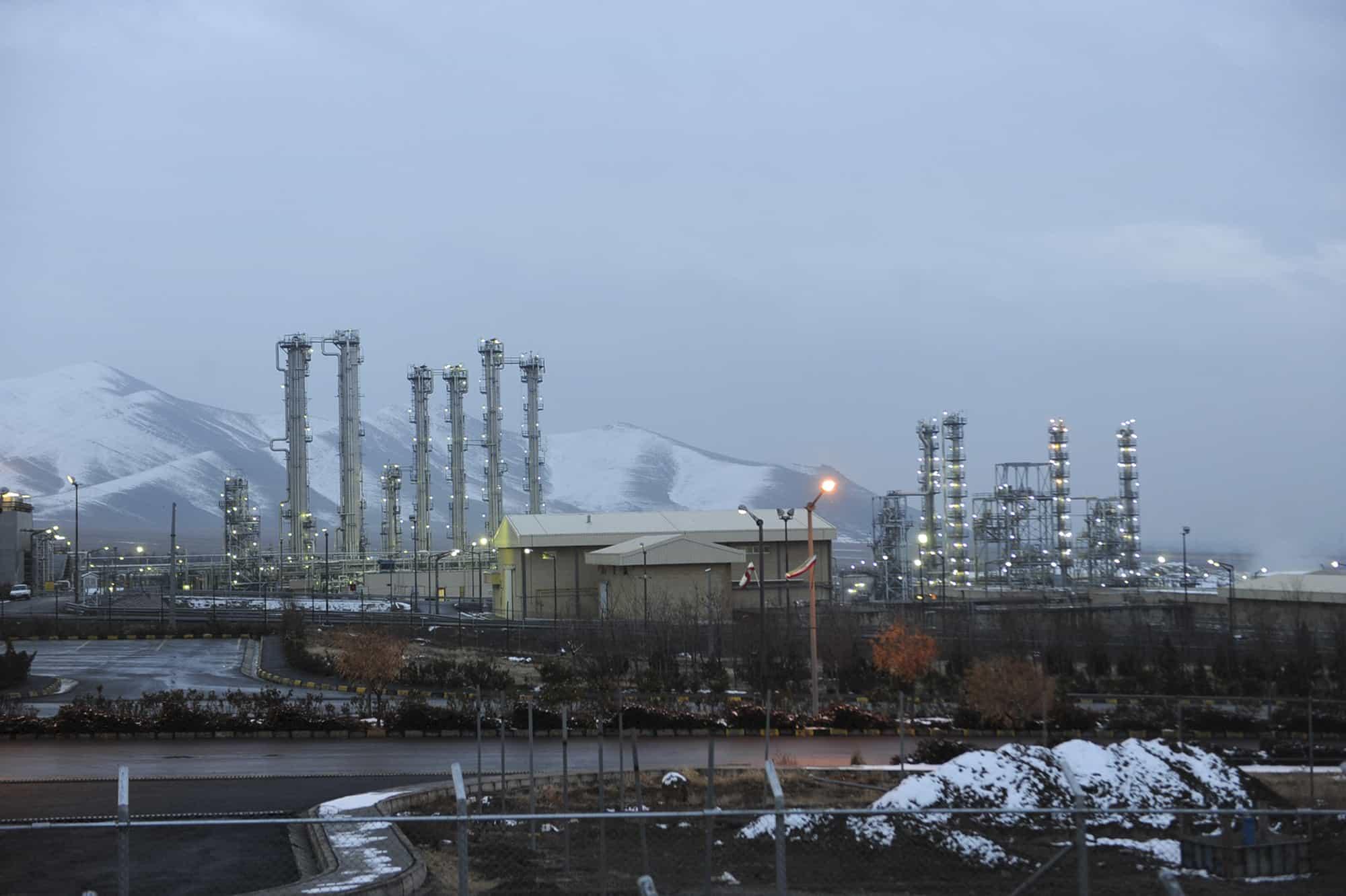המתקן הגרעיני למים כבדים באראק שבאיראן (צילום: AP Photo/ISNA, Hamid Foroutan)