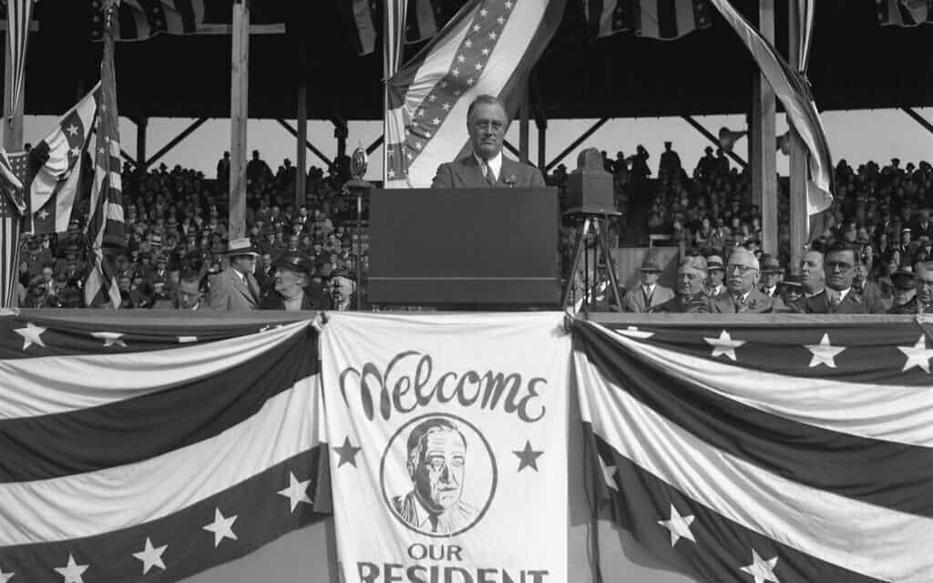 פרנקלין רוזוולט, 1933 (צילום: AP Photo)