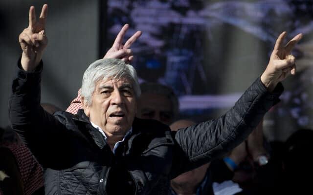 הוגו מוז׳נו - ג׳ימי הופה הארגנטינאי (צילום: AP Photo/Natacha Pisarenko)