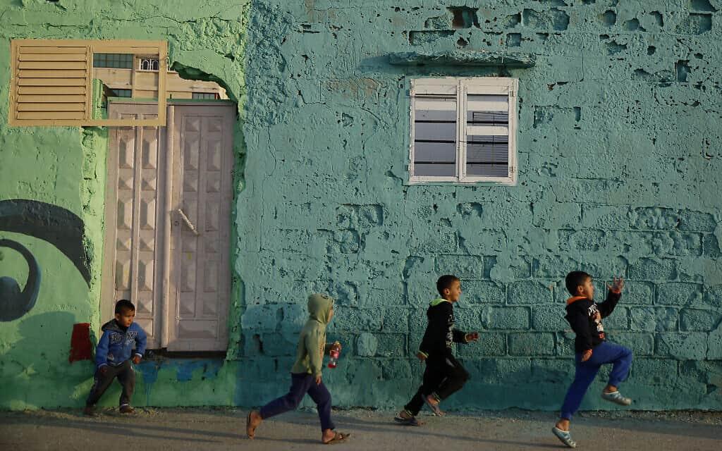 מחנה הפליטים שעטי בעיר עזה (צילום: AP Photo/Hatem Moussa)