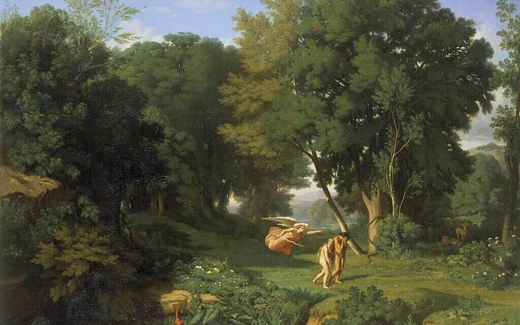 Adam and Eve Chased out of the Terrestrial Paradise / Jean Achille_Benouville