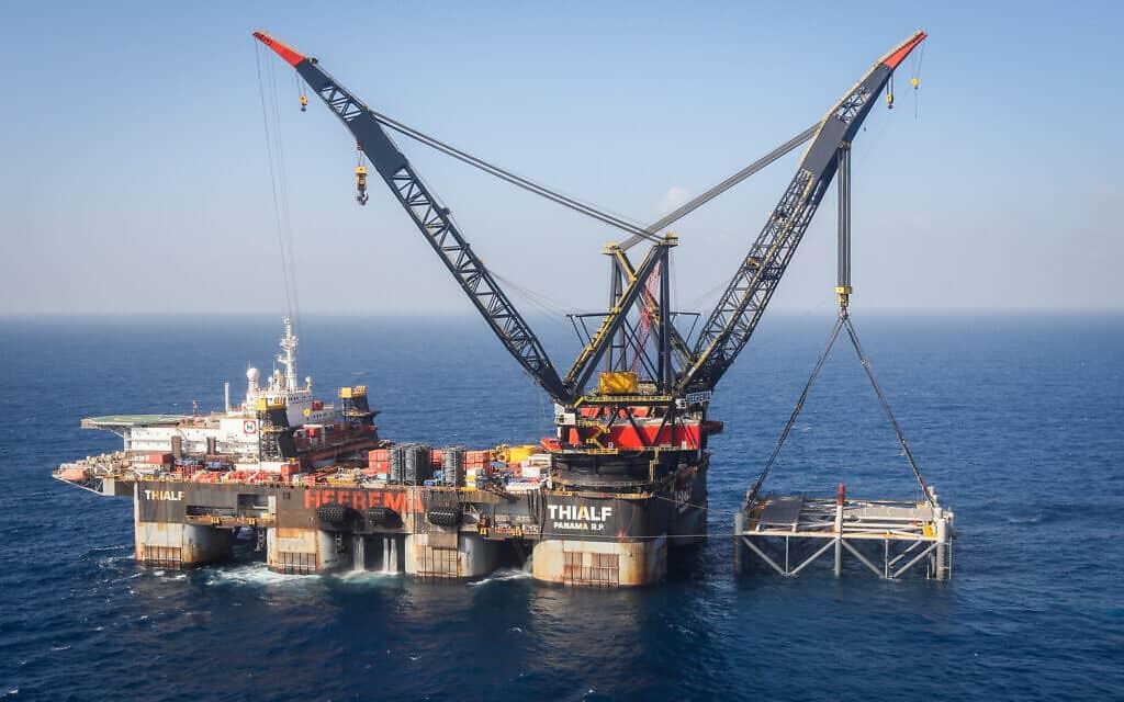 אסדת הגז לוויתן (צילום: Marc Israel Sellem/POOL)