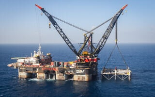 .אסדת הגז לוויתן (צילום: Marc Israel Sellem/POOL)