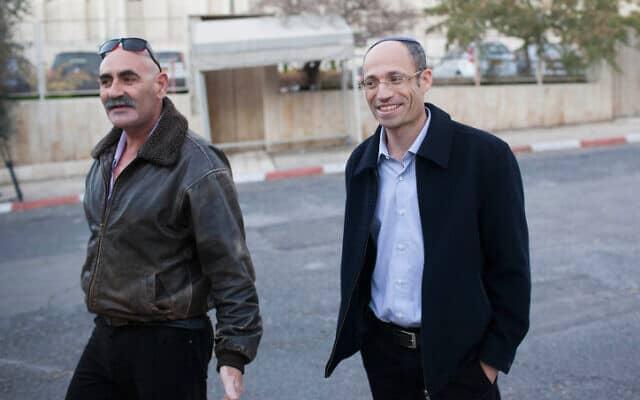 .דוד פרל ודוד אלחייני (מימין לשמאל (צילום: יונתן זינדל/Flash90)