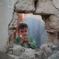 ילד פלסטיני בעזה. 4 באפריל 2019 (צילום: Hassan Jedi/Flash90)