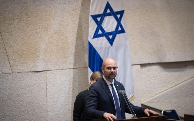 אמיר אוחנה בכנסת – ארכיון (צילום: יונתן זינדל, פלאש 90)
