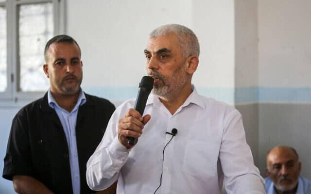 מנהיג חמאס ברצועת עזה, יחיא סנוואר (צילום: עבד רחים כתיב, פלאש 90)