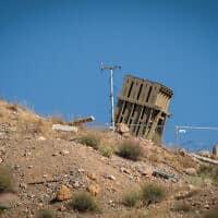 סוללת כיפת ברזל ברמת הגולן. דריכות גבוהה בגבול עם סוריה (צילום: באסל עווידאת, פלאש 90)