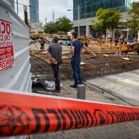 אתר בנייה שבו אירעה תאונה – ארכיון; למקום ולמצולמים אין קשר לידיעה (צילום: אבשלום שושני, פלאש 90)