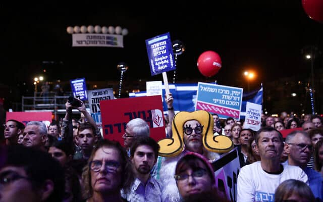 עצרת לזכר רצח ראש הממשלה יצחק רבין, 2 בנובמבר 2019 (צילום: מרים אלסטר/Flash90)
