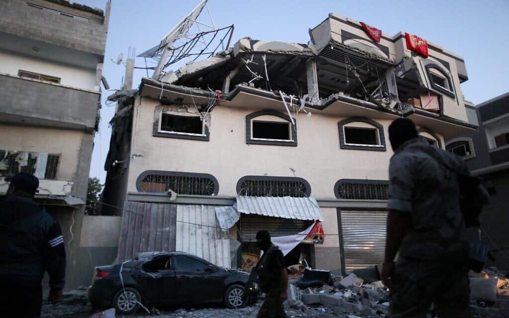 ביתו של בהאא אבו אל עטא לאחר החיסול. 12 בנובמבר  2019 (צילום: Hassan Jedi/Flash90)
