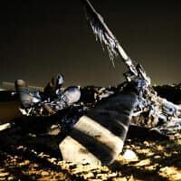 מטוס היסעור שהתרסק בנגב, 26 בנובמבר 2019 (צילום: Flash90)