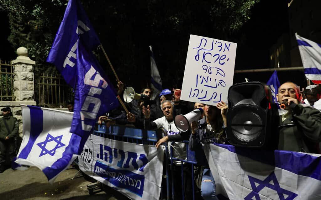 ההפגנה בעד בנימין נתניהו בירושלים, ב-30 בנובמבר 2019 (צילום: יונתן סינדל/פלאש90)