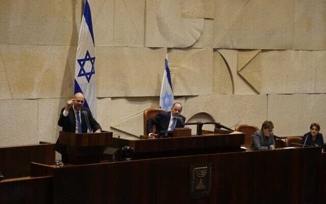שר המשפטים אמיר אוחנה במליאת הכנסת, היום (צילום: עדינה ולמן, דוברות הכנסת)