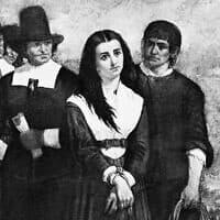 """פרט מתוך """"גבעת המכשפות – הקדושה המעונה של סיילם"""", ציור של תומס סאטרווייט נובל, 1869"""