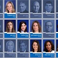 הנשים ברשימת כחול-לבן לכנסת ה-22 (צילום: עיבוד מחשב)