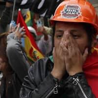 הפגנות נגד הנשיא המודח מוראלס, בוליביה (צילום: חואן קרידה, AP)