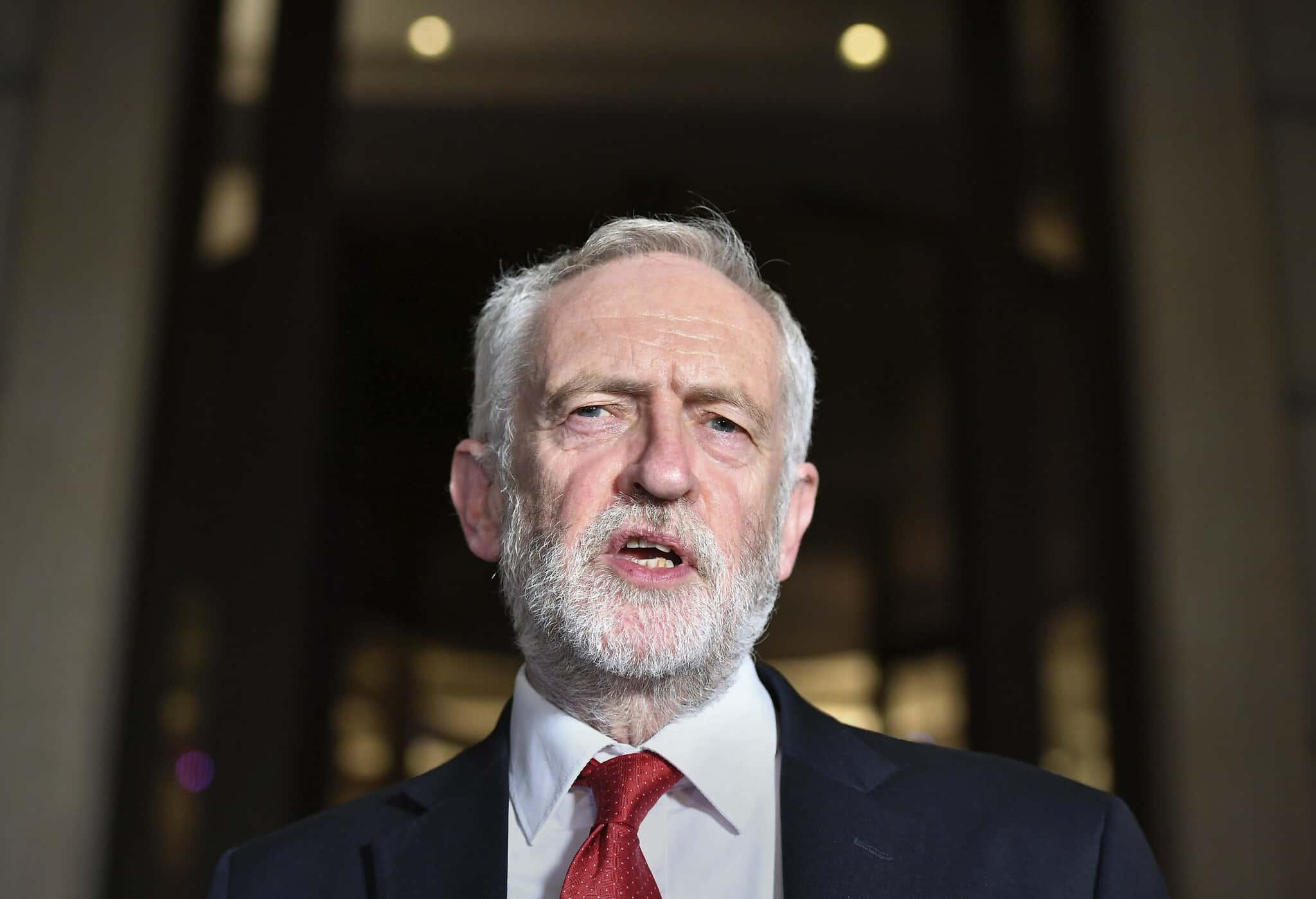 מנהיג הלייבור, ג'רמי קורבין (צילום: Dominc Lipinski/PA via AP)