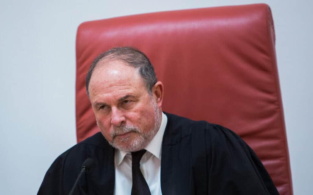.שופט בית המשפט העליון יורם דנציגר (צילום: Flash90)