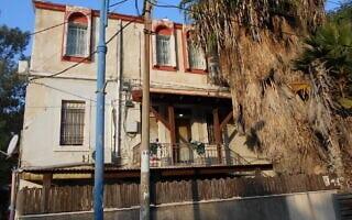 בניין לשימור בבת גלים, חיפה, שבו נמצאת המלונית של פרץ מאיר, ושבו נחפר המקוה (צילום: ללא)