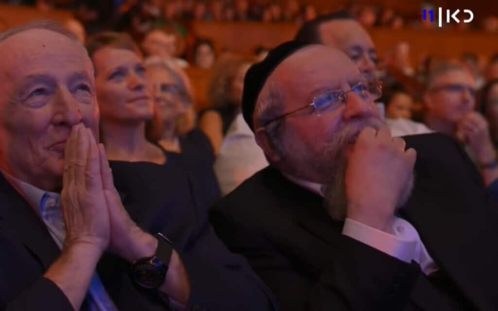 """הרב אלימלך פירר באירוע לציון 40 שנות פעילותו שנערך בשנה שעברה. צילום מסך מתוך """"כאן"""""""