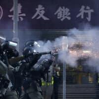 הפגנה נגד המשטר הסיני בהונג-קונג (צילום: AP Photo/Dita Alangkara)