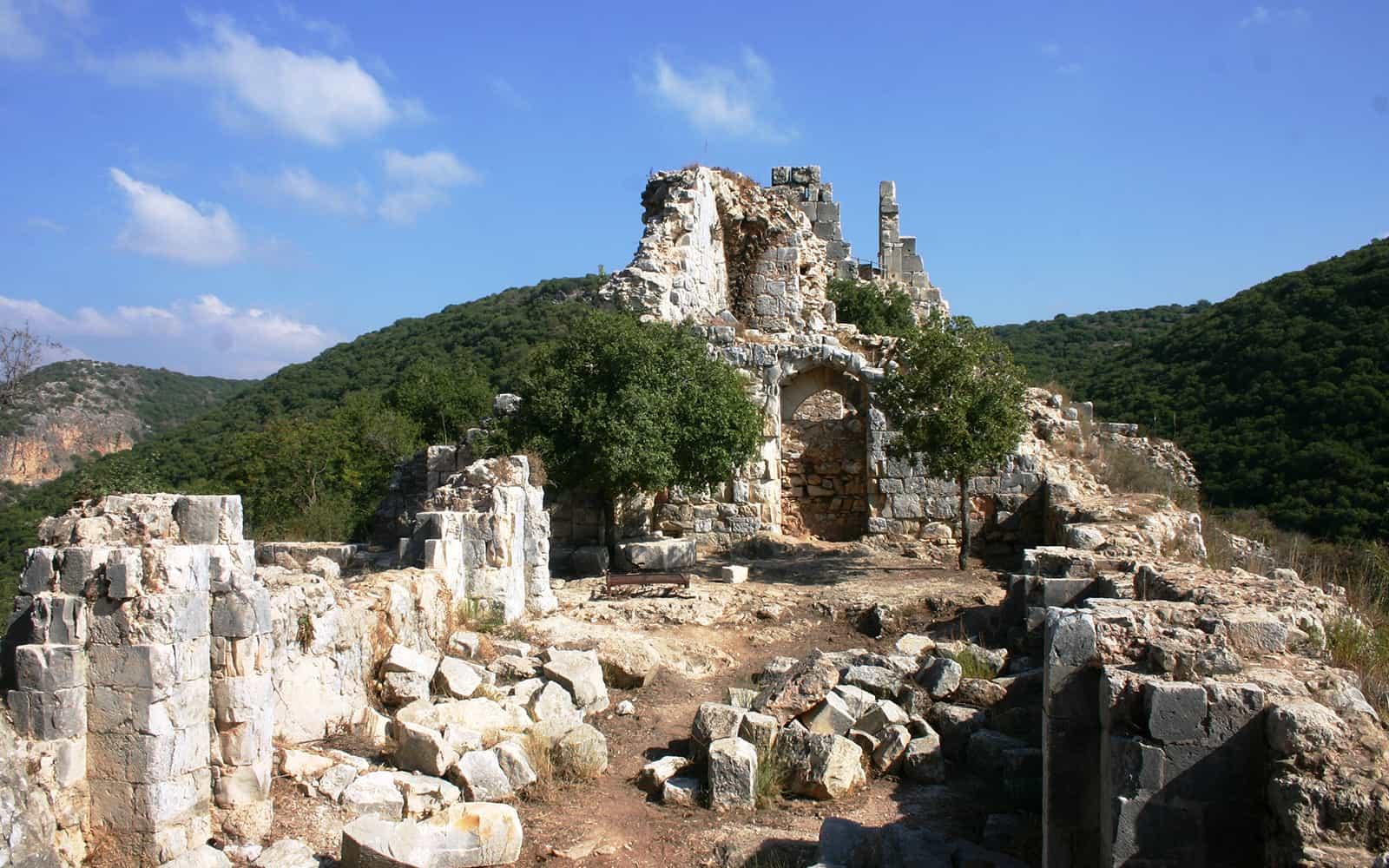 מונפורט אוכלס על ידי המסדר הטבטוני של האבירים במשך יותר מ-50 שנים במאה ה-13 (צילום: שמואל בר-עם)