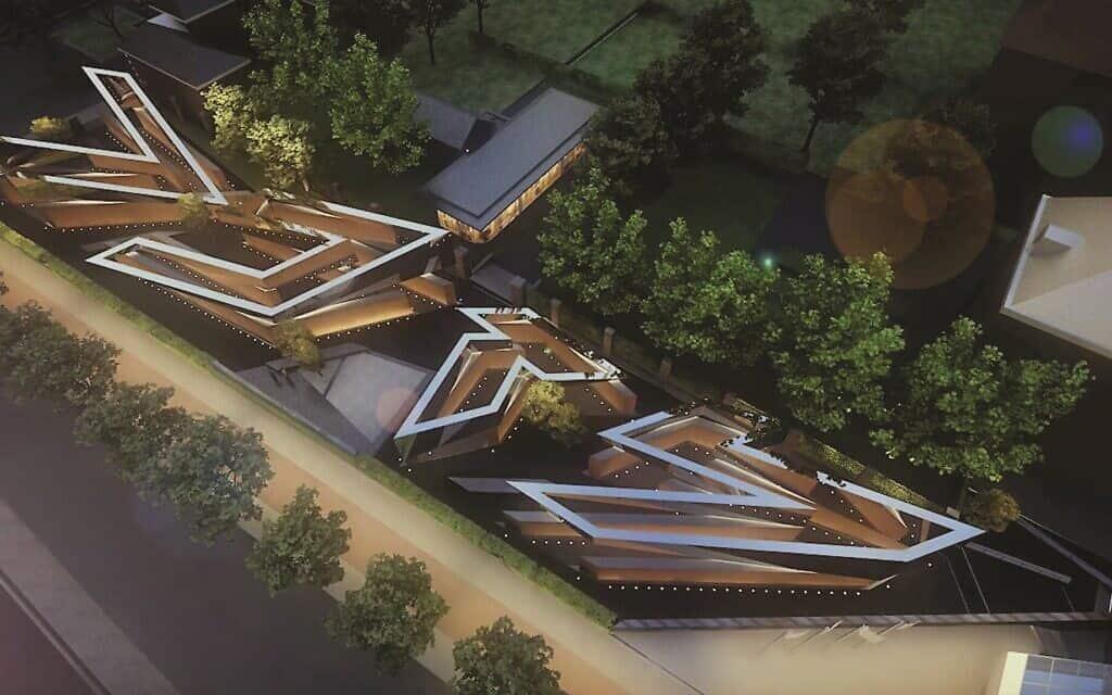 הדמייה של אנדרטת השואה החדשה בהולנד (צילום: Dutch Auschwitz Committee)