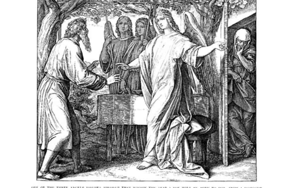 שרה אמנו, ציור: ג'וליוס שנור