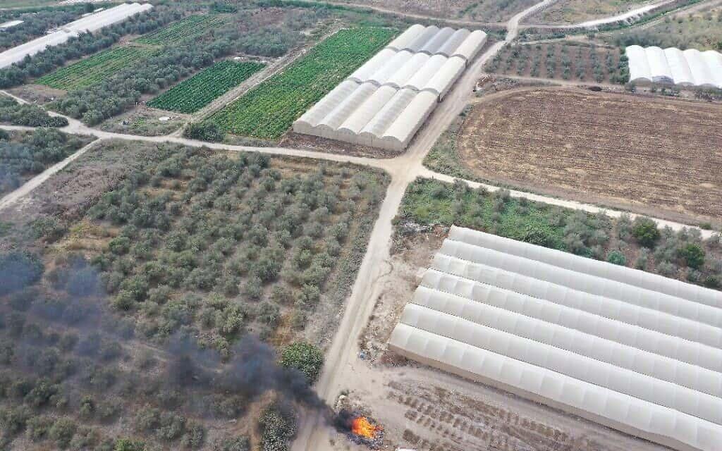פסולת חקלאית באזור השרון