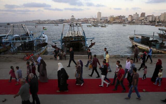 פסטיבל הסרטים של עזה, 2017, ארכיון (צילום: (AP Photo/Adel Hana)