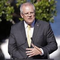 ראש ממשלת אוסטרליה סקוט מוריסון (צילום: Rick Rycroft)