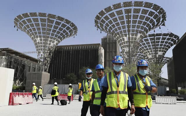 ההכנות ליריד העולמי אקספו 2020 בדובאי (צילום: AP Photo/Kamran Jebreili)